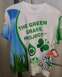 The Green Grass Project Sugoi Sunset Mastronardi Marathon Running Shirt NWT XL