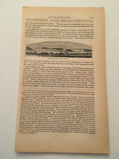 K41) Cedar Rapids At St Timothy Canada American Revolution 1860 Engraving