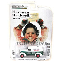 GREENLIGHT 37150 A NORMAN ROCKWELL 1939 CHEVROLET PANEL 1/64 WHITE GREEN Chase