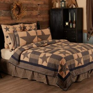 Classic Country Primitive Bedding - Teton Star Tan Quilt, Twin
