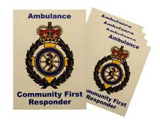 5x Ambulance Service Community First Responder Car Badges / Window Stickers