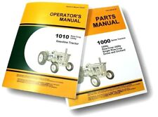 OPERATORS PARTS MANUALS FOR JOHN DEERE 1010 TRACTOR OWNERS CATALOG GAS