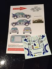 DECALS 1/43 FORD ESCORT THIRY RALLYE RAC 1997 RALLY WRC HASEGAWA BELGIQUE