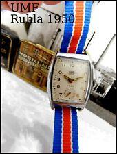 Legendäre UMF Ruhla  Hektor (vormals Thiel ) 1950 ziger  Armbanduhr Stiftanker