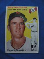 1954 Topps Don Mueller N.Y. Giants card #42 baseball MLB $1 S&H