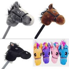 Kids Play Galloping Unicorn  Hobby Horse Soft Pony Toy Fantasy Sparkle Sound