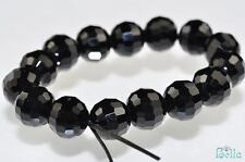 15 Pieces 8mm Lovely~BLACK CRYSTAL QUARTZ Faceted Round Bead D0241