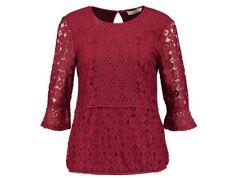Oasis Kick Blusa, Mujer, encaje rojo, Tamaño Grande