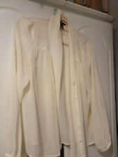 Cream Blouse Size 14 From H &M