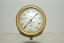 Vintage Grinnell Company /  U.S Gauge Co. Brass Air Gauge Steam Punk
