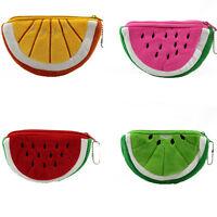 Women Plush Fruits Coin Cash Bag Zipper Wallet Pocket Purse Handbag Clutch