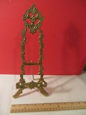 "Ornate Vintage 11"" Brass Picture Plate EASEL Book Display Stand 11 inch"