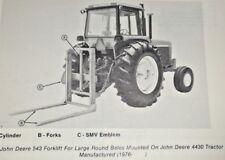 John Deere 543 Forklift Fork Lift Parts Catalog Manual Book JD