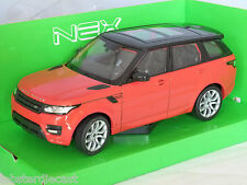 RANGE ROVER SPORT in Red / Orange 1/24 scale model by WELLY