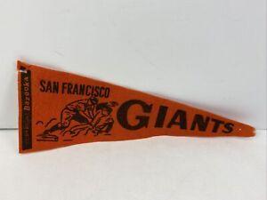 """Vintage Original Bazooka San Francisco Giants Baseball Pennant 13"""" 1950's 1960's"""