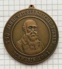 6. Kreisturn & Sportfest Schwerin 1961 150 Jahre Turnen Bronze Medaille DDR