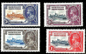 1935 Bechuanaland Protectorate Jubilee Set Mint Stamps SG 111-4 Unlist. Variety