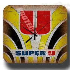 SUPER U Jersey VINTAGE RETRO CYCLING   METAL TIN SIGN WALL CLOCK