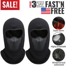 2 pcs Balaclava Waterproof Face Mask Cold Weather Windproof Thermal Neck Warm