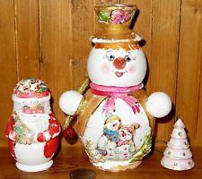 RUSSI NIDO bambole pupazzo di neve BABBO ALBERO NATALE OPACO Babushka 4 Vestito