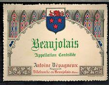 Etiquette de Vin - Beaujolais -A.Depagneux - Réf.n°303