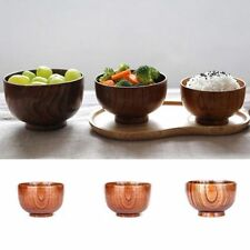 Baby Feeding Containers Kids Lunch Box Jujube Wooden Bowl Chinese Rice Bowls