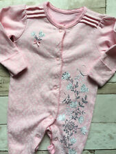 Baby Girl's Clothes 0-3 Months - Stunning Floral Bow Detail One-Piece Outfit 🐹