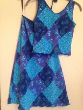 New Jonathan Martin Girls Turquoise/Periwinkle Two-Piece Outfit Sz 12
