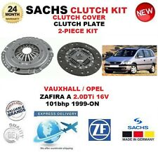 FOR VAUXHALL OPEL ZAFIRA A 2.0 DTi 16V 101BHP 1999-ON SACHS 2 PIECE CLUTCH KIT
