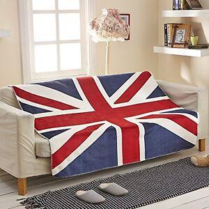 Union Jack United Kingdom UK Großbritannien 50x60 Polar Fleece Tagesdecke