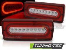 Coppia Fari Fanali Tuning MERCEDES W463 Classe G 90-12 Rosso/Bianco LED
