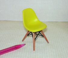 Miniature Mid-Century Modern Yellow Chair, Plastic (REAC024): DOLLHOUSE 1/12