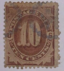 Travelstamps: 1884-1889 US Scott# J19, used , ng, Postage Due ,SCV. $35.00