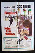 RAPHAEL DE ESPANA SIN UN ADIOS ONE SHEET MOVIE POSTER 1970 LESLEY ANN DOWN NMINT