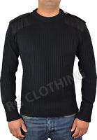 Mens Army Pullover Security Military Nato Jumper Knitted Sweater Crew Neck S-4XL