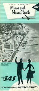SAS City Portrait Miami and Miami Beach Aviation Brochure Tourism Travel