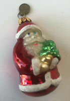 Vintage Dept 56 Santa Claus Hand Blown Glass Christmas Tree Ornament 2.5""