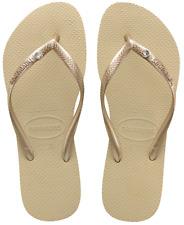 Havaianas Slim Sand Gold Ladies Summer Beach Flip Flops UK 5