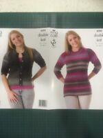"King Cole Country Tweed Dk 4099 Ladies Pattern 32-46"" Cardigan & Tunic"