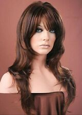 Forever Young Auburn Brown Mix Long Tousled Wavy Layered Wig UK Fashion Wig