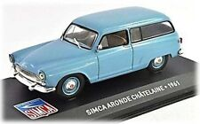 W96 Simca Aronde Chatelaine 1961 1/43 Scale Light Blue New in Display Case