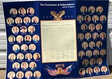 Vintage Declaration of Independence Cardboard Poster with Signers