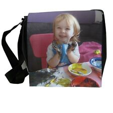 Personalised large shoulder bag add photograph, logo, artwork or child's artwork