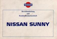NISSAN   SUNNY   Bedienungsanleitung  1986  N13  Handbuch  Betriebsanleitung  BA