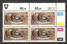 Venda 1986 Snakes/Reptiles R2 c/b (1993 rprnt) (n20222)