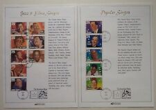 American Music Stamp Festival First Day of Issue - Popular & Jazz & Blue Singers
