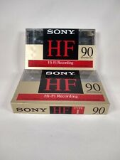Sony 90HF Blank Audio Cassette Tape Blank Tapes - New Sealed 2 Pack