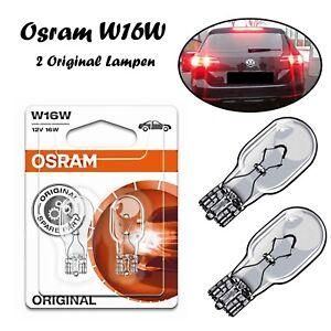 2x Osram W16W 12V 921-02B Standard Weiß Bremslicht Hecklicht Rückfahrlicht Birne