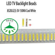 100pcs /lot 3V FOR LCD TV repair led TV backlight strip light-diode 8520 SMD LED
