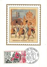 Card Maximum FDC Silk France Polish Immigration 1973 Auchterarder